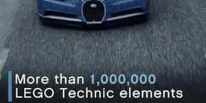 Elképesztő: Legóból készítettek működő Bugatti Chiront!