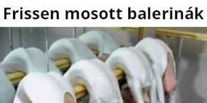 Frissen mosott balerinák