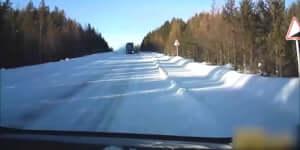 Ezért ne előzz a hóban